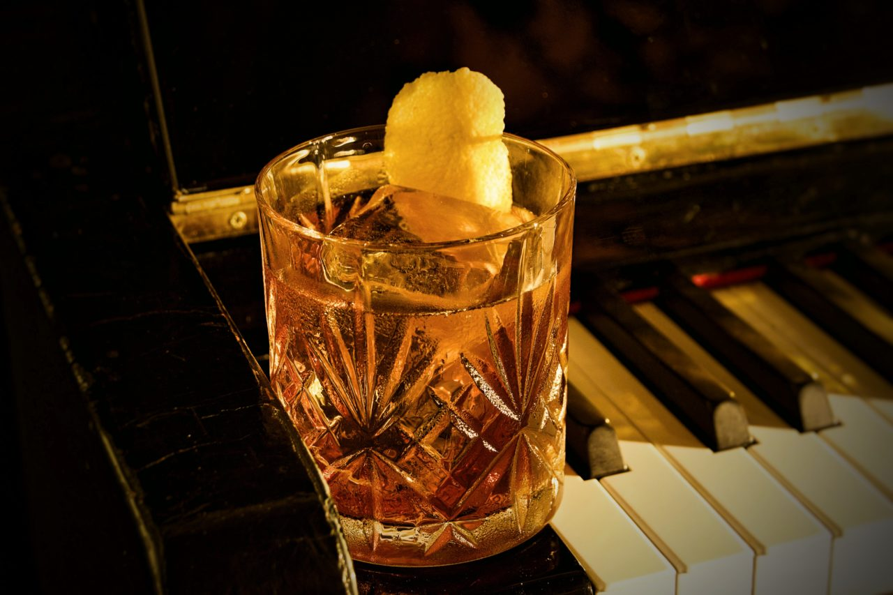new orleans cocktail on piano