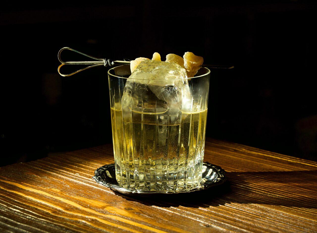 Ginger whisky cocktail