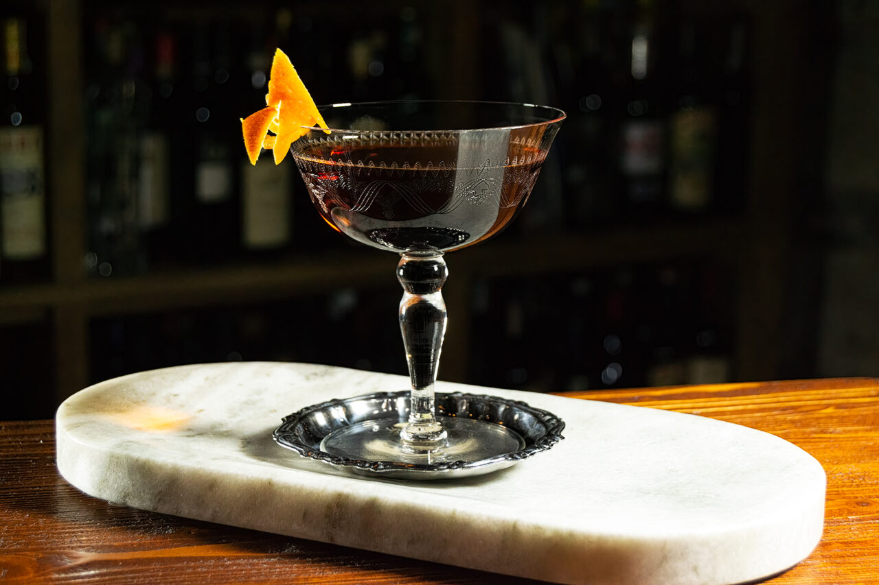 Martinez cocktail gin vermouth maraschino bitters